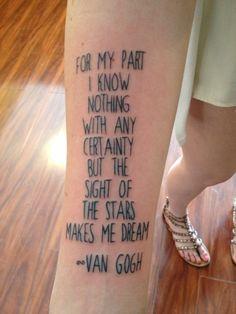 Van Gogh Irises Tattoo