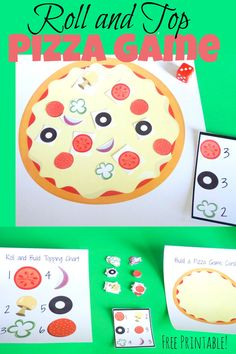 Your kids will love playing this roll and top pizza game. You will love it too because not only is it fun it's also educational. As your kids play they will be naturally learning as they count, add and follow their recipe card to create their pizza. Pizza Roll and Top Game Basics The first …