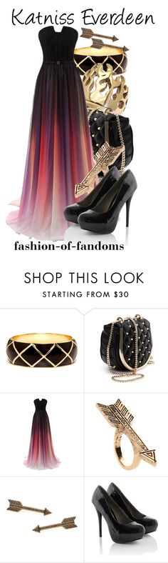 """""""Katniss Everdeen"""" by fofandoms ❤ liked on Polyvore featuring Thomas Wylde and House of Harlow 1960"""