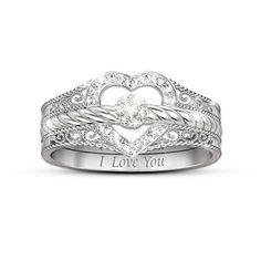 Diamond Wedding Rings : I Love You Diamond Ring