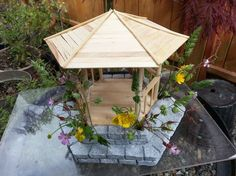 DIY miniature gazebo! This is a simple tutorial about making a miniature gazebo with real wild plants. https://www.facebook.com/junktofunpro... You may also ...