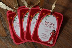 Elena of Avalor Themed Party *** CUSTOMIZABLE *** Favor Tags - Gift Tags - Thank You Tags - Sold in Lots of 8 - Disney Jr. - Princess Elena by AddSomeCharmBoutique on Etsy https://www.etsy.com/listing/479711903/elena-of-avalor-themed-party