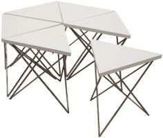 """several top finishes and antique silver base triangle 19.5 w x 17x 18 high hexagon 40""""widex 40 deep"""