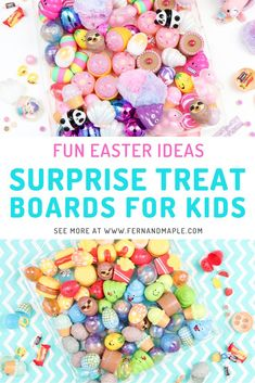 "If you're a fan of charcuterie or grazing boards like I am, you will love these ""char-treaterie"" boards of Easter eggs. Come on over to see ideas for both boys and girls themed treat boards on Fern and Maple www.fernandmaple.com #fernandmaple #easter #easterideas #eastereggs"