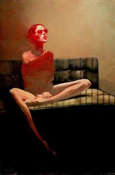 "Michael Carson- ""Red Haze""- Contemporary Artist - Figurative Painting"