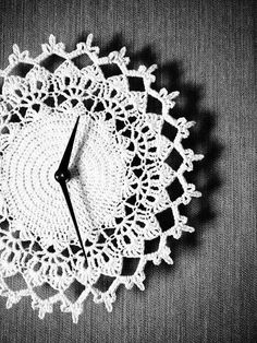 Relojes de pared a crochet: fotos ideas (Foto 3/25)   Ella Hoy