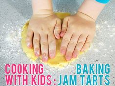 Cooking with Kids: Baking Jam Tarts. A simple jam tart recipe that is perfect for baking with kids - involving them in lots of important cooking processes.