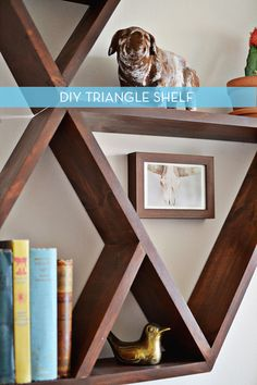 Make It: Do It Yourself Wooden Triangle Storage Shelf