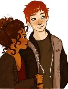Ron and Hermione>>> i really really like the idea of hermione being black, and i'm like 98% sure it's canon