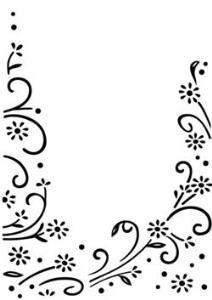 darcie embossing folders floral border - Google Search