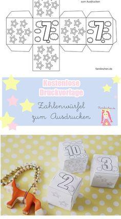 Würfelbilder und Mengen (Fördermaterial) | geometria | Pinterest ...