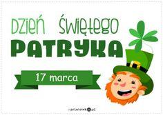 Dzień Świętego Patryka - Printoteka.pl Saint Patrick, Fictional Characters, Gifts, St Patric, St Patrick's Day, Fantasy Characters