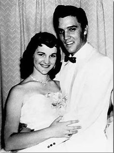Dixie Locke and Elvis Presley, 1955