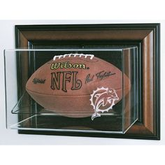 Miami Dolphins NFL Case-Up Football Display Case (Horizontal)