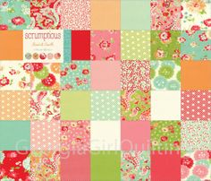 "Scrumptious Mini Charm Pack Moda Fabrics Quilt Fabric 42 - 2.5"" Squares Kit New"
