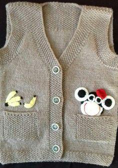 Baby Boys, Baby Boy Vest, Kids Boys, Knitting For Kids, Baby Knitting Patterns, La Fashion Week, Baby Pullover, Knit Vest, Baby Boy Fashion