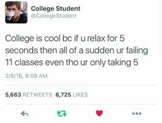 Not college, life Stupid Funny Memes, Funny Relatable Memes, Funny Posts, The Funny, Funny Quotes, Hilarious, Funny Shit, Funny Stuff, Relatable Posts