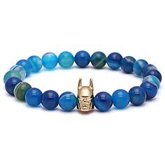 Blue Batman Beaded Bracelet for Men & Women