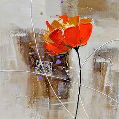 peinture sur toile une fleur pour toi