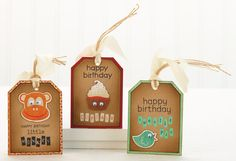 Silly Birthday Tags by @Lucy Abrams