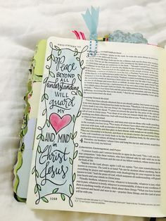 Philippians 4:7 peace beyond all understanding Bible journaling page