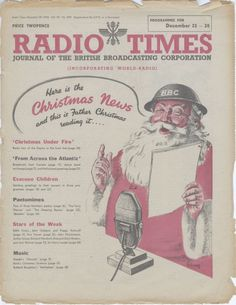 1940 1ST FATHER CHRISTMAS COVER, IN 1940) - These are some of the historic Radio Times covers that have graced our front rooms over the last 90 Christmases - and the nostalgia makes it hard to pick a favourite. From a family round the fire to the first appearance of Santa Claus the Christmas editions of the iconic TV listings magazine remain memorable. The Radio Times is one of the most popular British magazines and received Guinness World Record in 1988 for selling over 11.2 million copies…