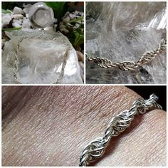 Sterling Silver 925 Ankle Chain in spiral 925 Silver, Silver Rings, Sterling Silver, Ankle Chain, Handmade Jewelry, Unique Jewelry, Rope Chain, Ankle Bracelets, Anklet