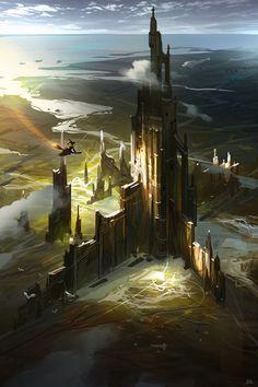Magic Castle, Gao ZhingPing on ArtStation at https://www.artstation.com/artwork/magic-castle