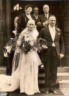 The wedding of Ruth Sylvia Gill and Edmund Burke Roche, 4th Baron Fermoy, at St Devenick's Church, Bieldside, Scotland