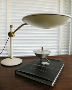 Vintage table lamp by dazor mid century 1950s desk lamp white mid century atomic dazor ufo lamp mozeypictures Choice Image