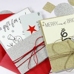 Easy, Last Minute Pocket Card Holders for the Holidays
