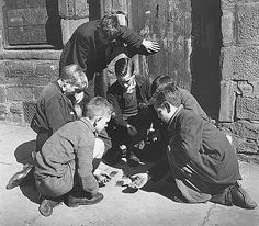 Boys Playing Cards, Dundee 1944 by Wolf Suschitsky