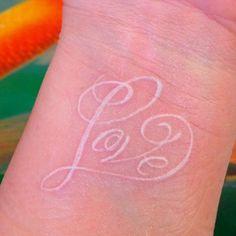White Tattoo Design