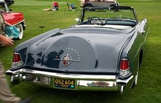 `56 Lincoln Continental Mark II Convertible, not stock, a very custom job.