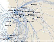 Alaska Airline Route Map
