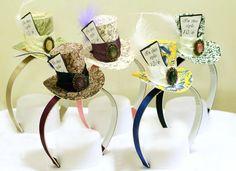 Set of 5 mini top hat headband wedding birthday tea di MiniTopHat