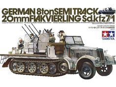 Christmas 1981 I think. There was a wee hobby shop in the market in Inverness which stocked Tamiya. German 8ton Semitrack w/20mm Flakvierling Sd.Kfz. 7/1 Tamiya - Nr. 35050