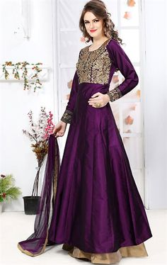 Picture of Charming Purple Latest Lehenga Kameez