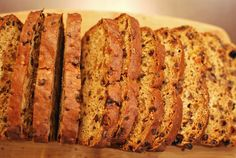 Welsh Speckled Bread - Bara-Brith:  Using black tea to plump dried currants and golden raisins, the soaking liquid is  used as the primary source of moisture in the loaf and turning the currants and raisins into saturated bombs of jammy goodness.