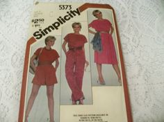 Simplicity 5373 Misses Jumpsuit in Two by HeavenztoBetsyDesign