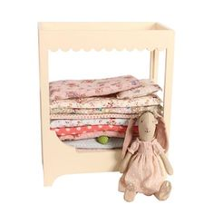 Bunny and the Pea Playset in a Rose Castle Giftbox by Maileg Bjd, Wooden Canopy Bed, Maileg Bunny, Princess And The Pea, Quilted Pillow, Bedding Sets, Gifts For Kids, Toddler Gifts, Kids Toys