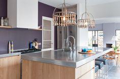 keuken: zo dus alleen zonder paarse muur dan