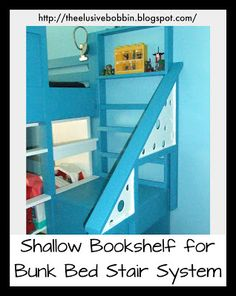 free shelf plans for top of bunk bed stairs