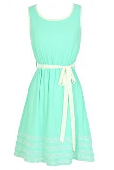 Minty summer dress