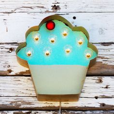 Cupcake Art Marquee Sign | dotandbo.com