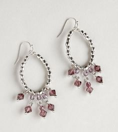 AEO Beaded Dangle Hoops $15.50 #charms #earrings
