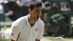Novak Djokovic: What a fighter! Such control and superb mastery of the game. Fantastic - looking forward to the final.