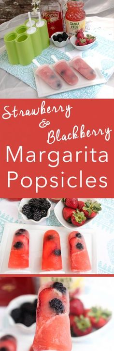 These adult Strawberry Blackberry Margarita Popsicles are the perfect summertime treat. Sweet, tangy and full of flavor. Get the recipe on TCL! Fun Cocktails, Summer Drinks, Frozen Desserts, Frozen Treats, Blackberry Margarita, Incredible Recipes, Margarita Recipes, Dessert Recipes, Drink Recipes