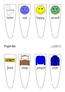 A printable fan which is ideal for use with children who have language and communication difficulties (such as EAL). The fan elements can be printed, laminated and pinned and used to aid communication through the school day. Eal Resources, Free Teaching Resources, Teacher Resources, Teaching Ideas, Visual Timetable, School Timetable, Special Needs Resources, Special Educational Needs, Printable Activities For Kids