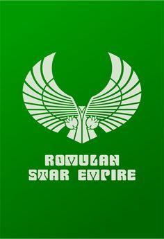 Star Trek Logo Romulan Star Empire Flat Design